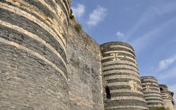 Angers Castle Royalty Free Stock Photos
