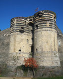 Angers castle, France. Two towers of the angevine castle Stock Images