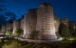 Angers Castle at night, France Stock Photo