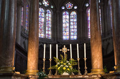 Angers Cathedral altar Stock Photo