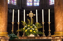 Angers Cathedral altar detail Royalty Free Stock Image