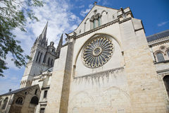 Angers Cathedral facade Royalty Free Stock Photography