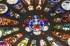 Angers Cathedral stained glass detail Stock Photos