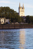 Angers Cathedral at sunset Royalty Free Stock Photography