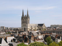 Angers Cathedral view Royalty Free Stock Photo