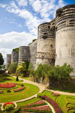 Angers Chateau and garden. Exterior view of Angers Chateau. France Series Stock Photos