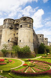 Angers Chateau and garden. Exterior view of Angers Chateau. France Series Royalty Free Stock Image