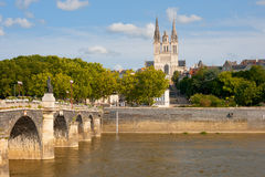 Angers at a summer day Royalty Free Stock Photos