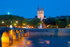Angers at a summer night Royalty Free Stock Photos