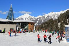 Angertal ski station Stock Images