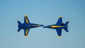 Anges Airshow de bleu marine des USA photographie stock