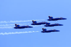 Anges Airshow de bleu marine des USA Photographie stock
