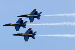 Anges Airshow de bleu marine des USA Photographie stock libre de droits