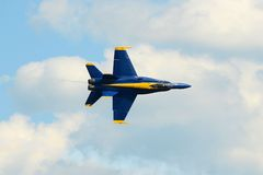 Anges bleus au grand salon de l'aéronautique de la Nouvelle Angleterre Image stock