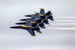 Anges bleus dans la formation Image stock