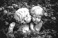 ANGES DANS L'AMOUR - illustration graphique de Digital Photographie stock