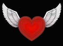 Anges de coeur Photo libre de droits