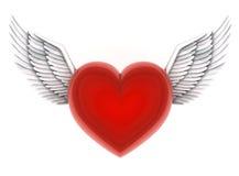 Anges de coeur Image libre de droits