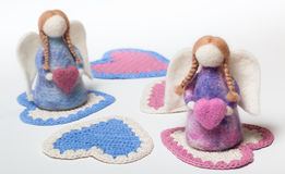 Anges de Felted Images stock