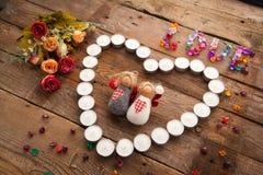 Anges de jour du ` s de Valentine Photos libres de droits