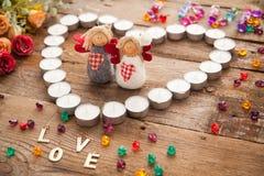 Anges de jour du ` s de Valentine Images stock