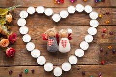 Anges de jour du ` s de Valentine Photos stock