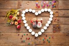 Anges de jour du ` s de Valentine Photographie stock