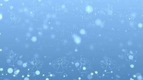 Anges de Noël avec les particules rougeoyantes banque de vidéos