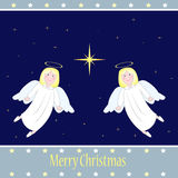 Anges de Noël Photo libre de droits