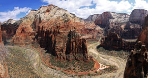 Anges de Zion atterrissant le point de vue de gorge Photographie stock libre de droits