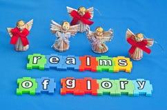 Anges des royaumes de la gloire Photos libres de droits