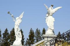 Anges en pierre Photos libres de droits