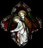 Anges en verre souillé Image stock