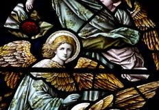 Anges en verre souillé Photographie stock