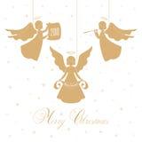 Anges et étoiles de Noël Photographie stock libre de droits