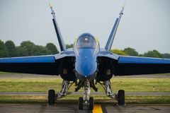 Anges F-18 bleus Photos libres de droits