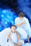 Anges joyeux Photographie stock