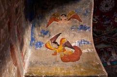 Anges sur le fresque du XVIIème siècle image libre de droits