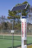 Angeschaltene Solarnotrufstelle Stockbilder