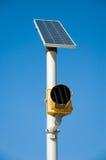 Angeschaltene Solarstraßenbeleuchtung Stockfotos