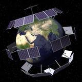 Angeschaltener Solarplanet Stockfotos