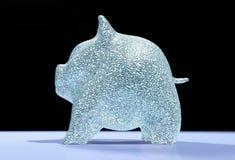 Das Schwein, das piggy ist, ist von den Diamanten voll lizenzfreie abbildung
