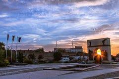 Angesichts des Sonnenuntergangs lizenzfreie stockfotografie