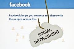 Angespannt auf Facebook Lizenzfreies Stockfoto