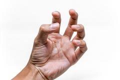 Angespanntes und gezucktes Handzeichen Lizenzfreie Stockfotos