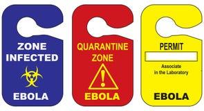 Angesteckt mit dem Ebola Virus vektor abbildung