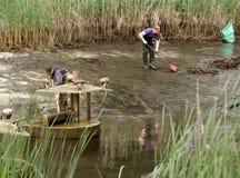 Angestellte, die See leeren lizenzfreies stockfoto