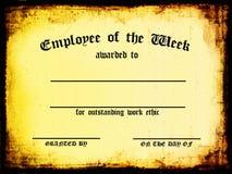 Angestellter der Woche Stockfotografie