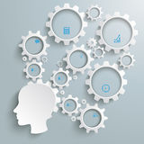 Angestellter großer Brain Activity Infographic Stockfoto