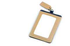Angestellter Identifikations-Ausweis-Leder Stockfotografie